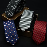 Wholesale Mantieqingway Men s Suit Tie Classic Men s Plaid Necktie Formal Wear Business Bowknots Ties Male Cotton Skinny Slim Ties Cravat