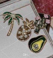 Wholesale Fly bike cat diamond brooch spring series pineapple CC Brooch Pin Generous Pearl letter Pin Scarf Pin Top N5 Brooch For Women