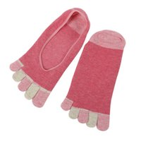 Wholesale Cute Toe Socks For Women - Vogue Women Ladies Low Cut Crew Ankle Socks Cute Five Finger Toe Hosiery Socks for Ladies