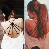 Wholesale Celebrity Sexy Bralette Cage Caged Back Cut Out Padded Bra Bralet Crop Tops Newest