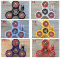 Wholesale Funny Tri Spinner Fidget Toy EDC Hand Spinner For Autism Anti Stress Toys finger spinner toy HandSpinner color KKA1265