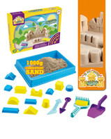 Wholesale Environmental certification wonderful Creative indoor sandy beach toys with space sand play tools for kids birthday party gift