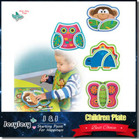 appetizer trays - Sozzy Creative Children s Plate Cartoon Animal Service Plate Appetizer Platter Cute Dishes Baby Sub grid Eat Tray