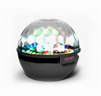 Wholesale 2016 Newest Prodduct LED Speaker S09 Enhanced Speaker LED Light Ring Super Bass Metal Mini Portable Beat Hi Fi Bluetooth Handfree