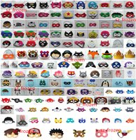 animal eyes - 150 Styles Super hero Cartoon Mask Eye Shade for Children Pikachu Poke Mask for Kids Christmas Halloween Cosplay Prop