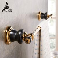 Wholesale New Golden Rose Golden Brass Bathroom Single Towel Bar Wall Mounted Towel Rack Towel Rod Bathroom Accessories XL