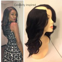 Wholesale none lace wig for balck women medium brown color with small medium and large size full bangs