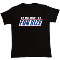 active fun - I m Not Short I m Fun Size T Shirt men Snickers Marathan Funny printed tee S XL