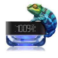 al por mayor almas inalámbricos-CrystalSoul altavoz inalámbrico Bluetooth con ritmo de luz colorida de alarma de radio reloj TF tarjeta de reproducción de control remoto de la lámpara de alma de cristal subwoofer