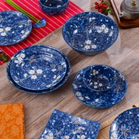 Wholesale Thick ceramic tableware bowl of soup bowl of Japanese Steamed RiceThe import of Mino burn under glaze with Japanese style and ceramic tablew