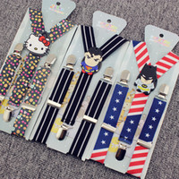 Wholesale 2016 Korean Children Adjustable Cartoon Super Man Hello Kitty Minions Suspenders baby Elastic Braces Kid Suspenders