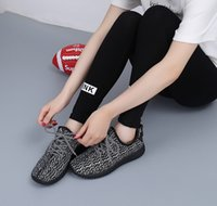 Wholesale Hot Sell Women wen US EUR Hot sell Kanye West Boost Pirate Black Moonrock initial trademark Running Shoes