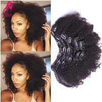 Wholesale Clip In Human Hair Extensions quot quot Kinky Curly Clip Ins Virgin Brazilian Afro Kinky Curly Human Hair Clip In Extensions