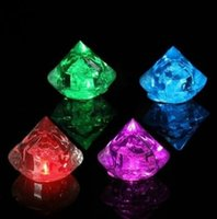 Wholesale Multicolor Diamonds LED Luminous Ice Cube Flash Ice Christmas Party Wedding Decor Supplies Your Best Choice