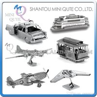 plane model - DHL Piece Fun D War vehicle plane P Mustang RQ Sentinel taxi boat gun Metal Puzzle adult models educational toy