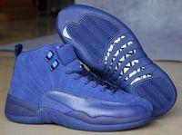 achat en gros de womens chaussures de basket-ball d'escompte-Cheap Retro 12 XII Deep Royal Gamma Bleu Le Maître Noir Ligne Grippe Basket Basket Chaussures De Sport Mens Athletics Discount Womens Sneaker