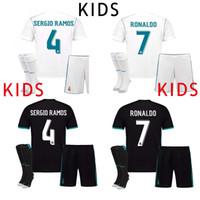 Soccer Men Full 17 18 KIDS Real Madrid Soccer Jersey Cristiano Ronaldo  Children Youth 2017 2018 5f7e045de5777