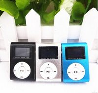 Wholesale Colorful Mini Clip MP3 Player with Inch LCD Screen Music player Support Micro SD Card TF Slot Earphone USB Cable with Gift box p