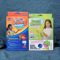 Wholesale set bouncing bubbles set kids toy with magic glove cm Safe non toxic Gazillion Juggle Bubbles activity tool set