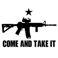Wholesale pieces Car Styling Vinyl Big Size COME AND TAKE IT funny gun and flag vinyl stickers decals car ac stickers