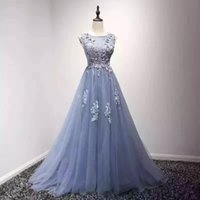 Maxi Dresses arab dance - Shiny retro dress cheap there is no embroidered crystal folds scanning trains increase the small Arab navy blue light lace formal dance