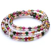 adorn strands - The Brazilian natural tourmaline bracelet Women more circle layers of long string can be customized beads adorn article