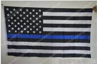 Precio de Líneas blancas-90 * 150cm Banderas de la policía de BlueLine Estados Unidos 5 estilos 3x5 pie azul fino bandera de los EEUU Bandera americana blanca y azul negra con los ojales de cobre amarillo