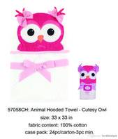 Wholesale US Brand Luvable Friends Lovely Cute Fashion Colorful D Cotton Woven Terry Baby Hooded Towel Washable Pink Blue Embrodiery