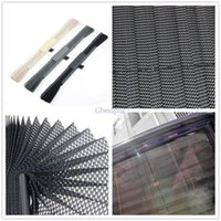 Plastic auto car curtain - Real Pare Soleil Car Styling pc Auto Automatic Blinds Sun shading Breathable Curtain Retractable Side Window Car Or870500