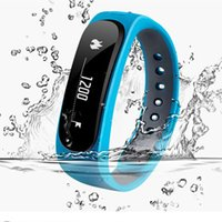 Wholesale Smartband E02 Health fitness tracker Sport Bracelet Waterproof Wristband for IOS Android fitbit flex Smart Band Bluetooth