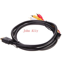Wholesale 200 M Hdmi Male TO RCA Video Audio AV Cable Cord Adapter FOR P