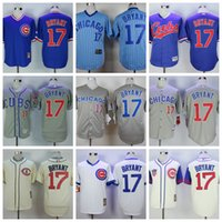 Wholesale Kris Bryant Men s Chicago Cubs jersey Kris Bryant white Throwback Stitched Baseball Jerseys Best quality Mix Order