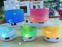 Wholesale bluetooth speakers LED wireless speaker hands Portable Mini loudspeaker free TF USB FM Support sd card For mobile phone PC with Mic