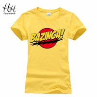 bazinga tee shirt - HanHent Bazinga Funny Women s T Shirts Cotton Ladies School Style The Big Bang Theory T Shirt Casual Cropped Tee Shirt Woman
