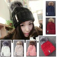 beach stones - Winter Warm Wool Hats B G Stone Beanies Women and man outdoor warm caps styles