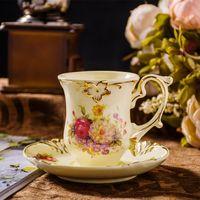 ECO Friendly antique bone china tea sets - China Cup and Saucer Set Royal Bone China Mug Tea Gold Painting Cup Coffee Cup And Saucer Oil Painting King Antique Tea Cups