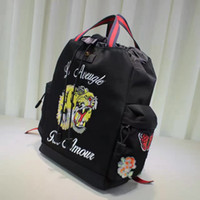 Wholesale high quality unisex backpack hand embroidery double G fashion designer tigerlogo Letter printing Flowers Travel bag laptop bag chrismas gift