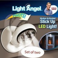 Wholesale 6V LEDs Cordless Motion Activated Sensor Light Lamp Degree Rotation Wall Lamps White Porch Light For Indoor and Outdoor b665