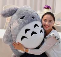al por mayor almohadilla del bebé totoro-110cm Big Japan Anime felpa suave Totoro Toy 43 '' gigante relleno animado Totoro muñeca niños almohada Baby Present