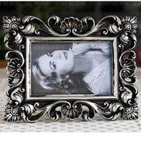 achat en gros de free europe cadres photo-Livraison gratuite Cadre en résine coloré de photo de dessin fait à la main Décoration à la maison Cadeaux de style d'anniversaire d'anniversaire de mariage Cadre SZ193 6