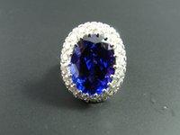 artisan rings - HUGE Tanzanite Diamond Artisan Ring One of a Kind K White Gold Engagement