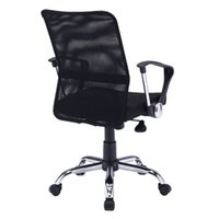 Wholesale 2016Hot styleThe boss chairClerk chairHousehold chairsummerRotate degreesDouble gridblackHigh on the straps armrestOffice chair