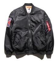 Wholesale 2017 winter mens jackets coats MA1 Bomber jacket KANYE WEST YEEZUS jackets Sport Suit Parkas mens hip hop coats streetwear