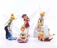 plastic craft ornaments - 36pcs DHL Free Fairy Pixie Fly Wing Spirit Baby Miniature Dollhouse Bonsai Garden Ornament Craft in Action Figurine Fairy Garden Miniatures