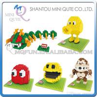 american educational - DHL Mini Qute HSANHE American cartoon game kawaii Pixels plastic building block brick model Action Figure educational toy