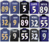 Wholesale 2017 Rush Legend Purple Elite Joe Flacco Terrell Suggs Eric Weddle Justin Tucker Steve Smith Sr Mens Stitched Football Jerseys