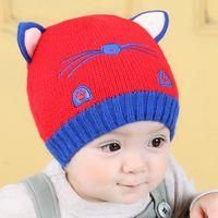 age kittens - 0 Years Of Age Lovely Kitten Modelling Wool Sleeve Head Autumn Winter Baby Neonatal Cap Men And Women Korean Style