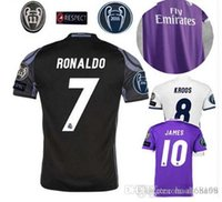 Wholesale size S XL Free patches Realed Madrided Thai AAA best Quality adult Shirts Home White Away Purple RD shirt