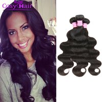 beautiful bodies - Brazilian Virgin Body Wave Hair Extensions Human Hair Weaves Bundles A Unprocessed Soft Beautiful Brazilian Remy Hair Natural Black