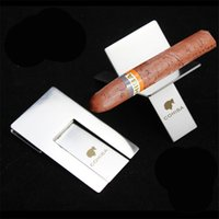 Wholesale 1Pcs High Quality Stainless Steel Cohiba Cigar Holder with Leather Case